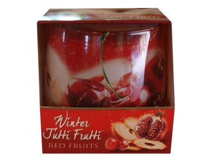 Svíčka Winter tutti frutti red fruits 100g