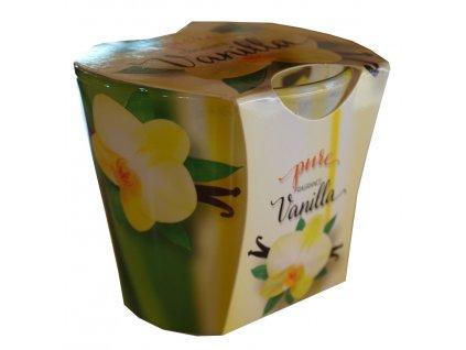 Svíčka Pure fragrance vanilla 100g