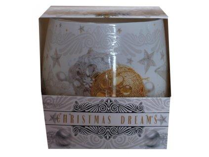 Svíčka ve skle Christmas dreams 100g