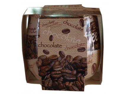 Svíčka ve skle káva a čokoláda 100g