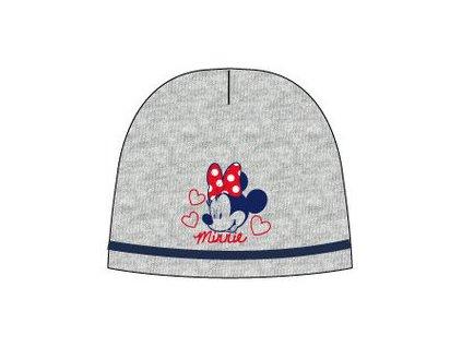 Čepice dívčí s Minnie Mouse šedý melír