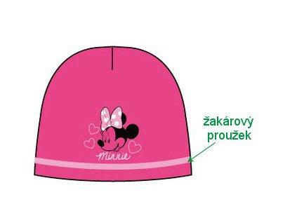 Čepice dívčí s Minnie Mouse růžová