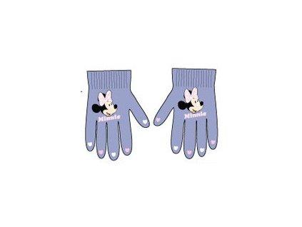 Rukavice s Minnie Mouse světle fialové