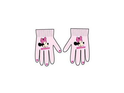 Rukavice dívčí s Minnie Mouse světle růžové