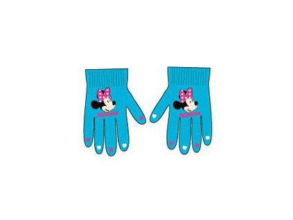 Rukavice s Minnie Mouse tyrkysové