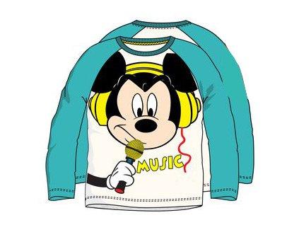 Mickey Mouse tričko bílé s tyrkysovou