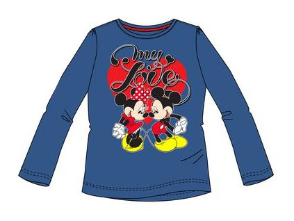 Tričko dívčí s Minnie Mouse tmavě modré