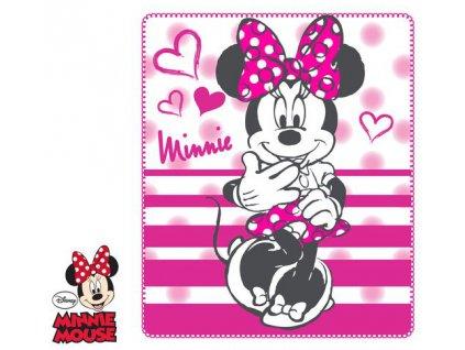 Deka flízová s Minnie růžová
