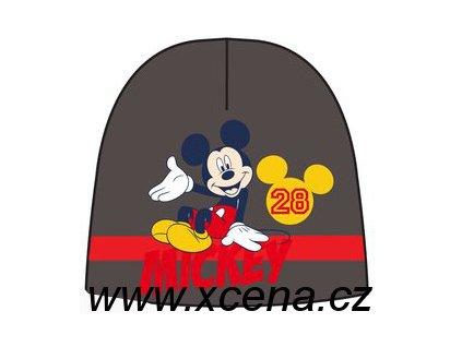 Dětská zimní čepice s Mickey Mouse šedá