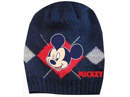 Dětská čepice s Mickey mouse tmavě modrá