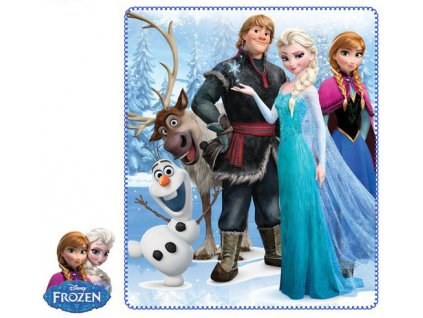 Frozen Anna Elsa deka polar fleece