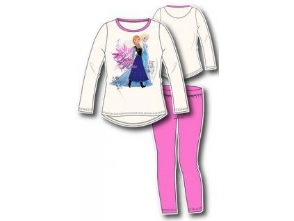 Anna Elsa Frozen pyžama bílé s potiskem