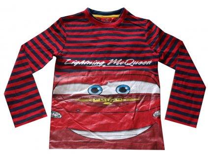 Cars trička červené s pruhy nový model
