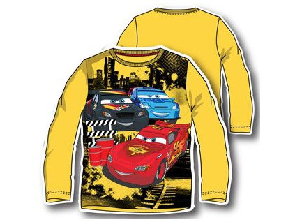 Cars tričko žluté