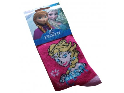 Anna Elsa Frozen ponožky tmavě růžové