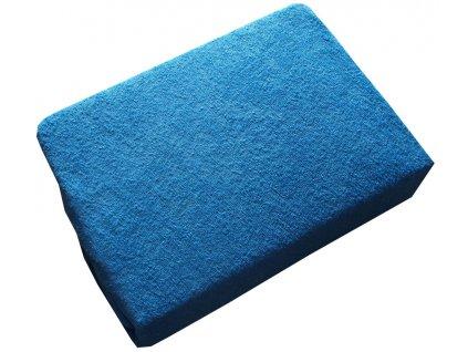 Froté prostěradlo 200/220 cm modré