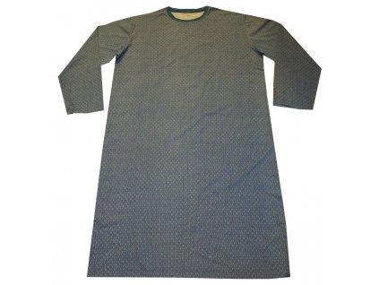 Noční košile bavlněná modrá