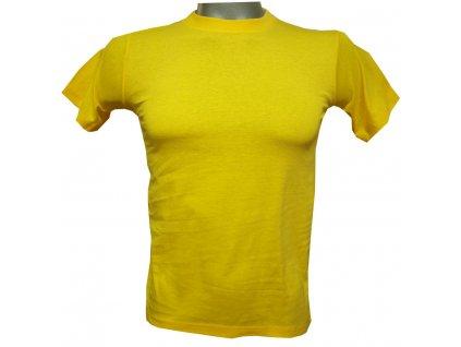 Dětské bavlněné tričko žluté