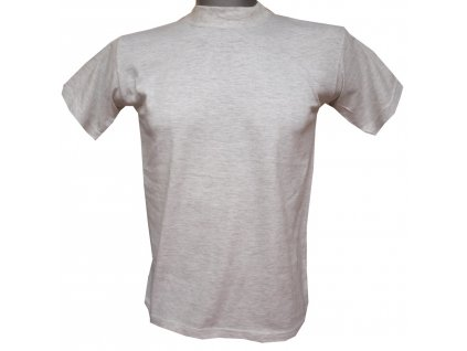 Dětské trička bavlněné světle šedé