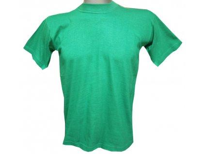 Dětské trička bavlněné hráškově zelené