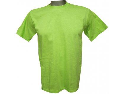 Dětské tričko bavlněné světle zelené