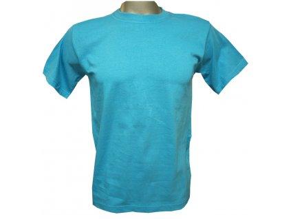 Bavlněné tričko dětské tyrkysové