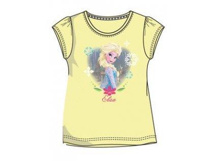 Ledové království Anna a Elsa tričko  žluté