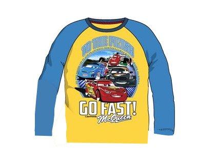 Cars McQueen tričko žluté s tyrkysovou
