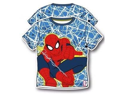 Spiderman tričko modrá pavučina