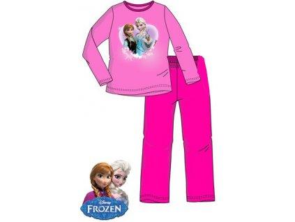 Frozen Anna a Elsa pyžamo růžové