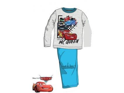 Cars červené autíčko pyžama šedé