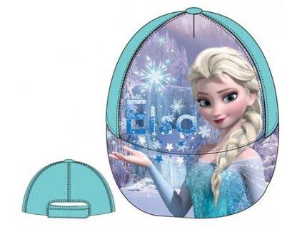 Anna a Elsa kšiltovka čepice tyrkysová