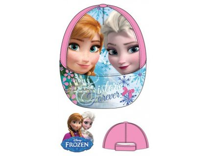 Frozen kšiltovka Anna a Elsa růžová