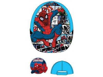 Spiderman čepice letní tyrkysová