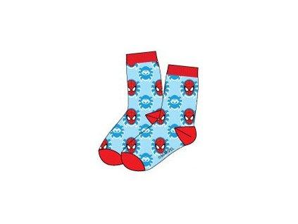 Spiderman ponožky tyrkysové