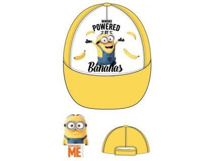 Mimoni čepice baseballová žlutá