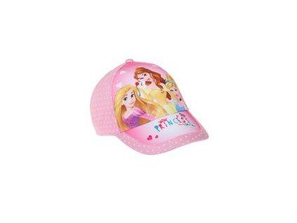 Princezny čepice baseballové růžové
