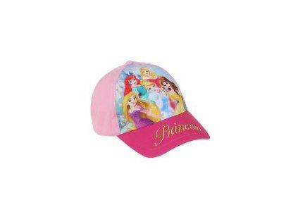 Princess čepice baseballová růžová