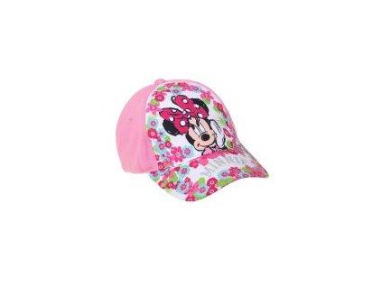 Minnie čepice baseballová růžová