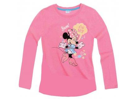 Minnie trička s dlouhým rukávem růžové