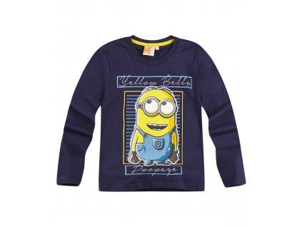 Minions tričko modré s dlouhým rukávem