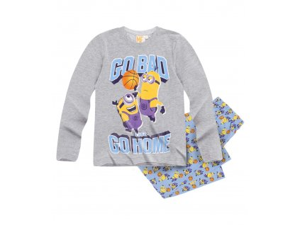 Mimoni chlapecké pyžamo šedé
