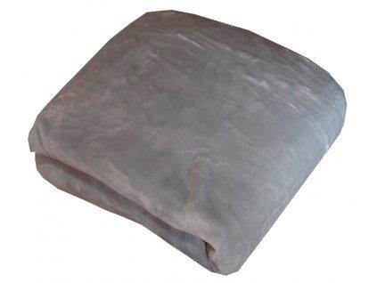 Mikroplyšové prostěradlo šedé 90x200