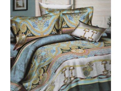 Povlečení bavlna 140x200,70x90 tyrkysové