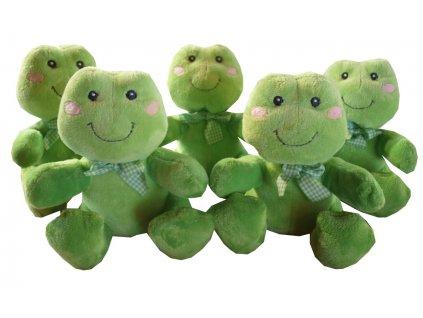Plyšák, plyšová hračka žabka zelená