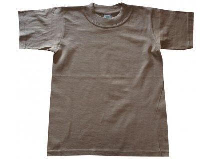 Bavlněné trička dětské hnědé