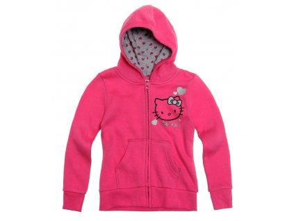 Hello Kitty mikina vyteplená růžová