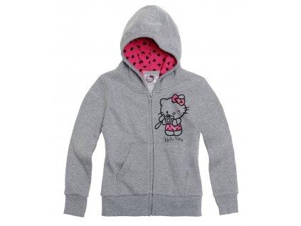 Hello Kitty vyteplená mikina šedá