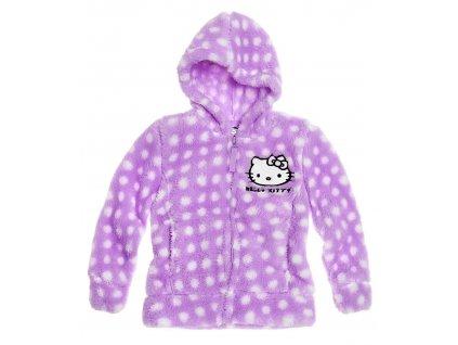 Hello Kitty fleecová mikina se zipem fialová