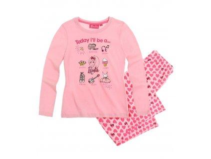 Barbie pyžamo bavlněné růžové